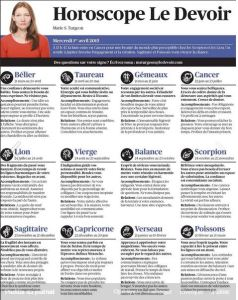 le devoir horoscope