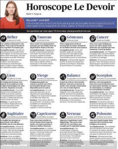 le devoir horoscope