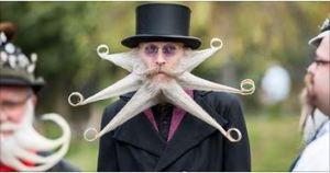 barbes et moustache
